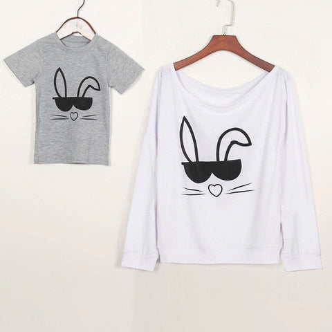 Cool Rabbit Matching Family Set