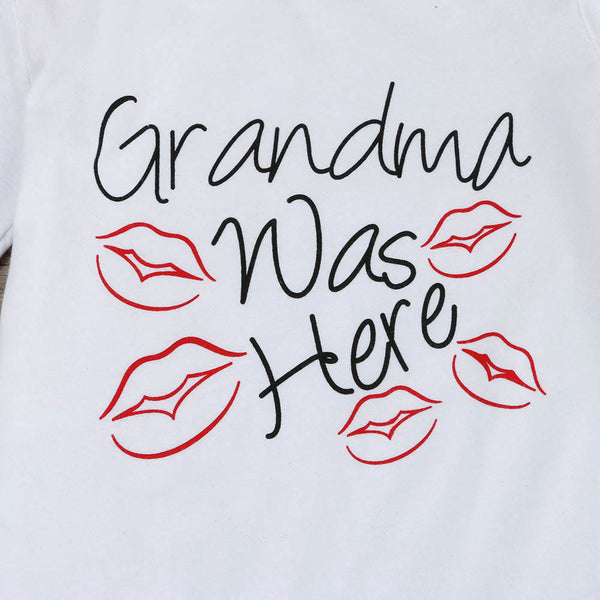 """Grandma was Here"" with Kisses"