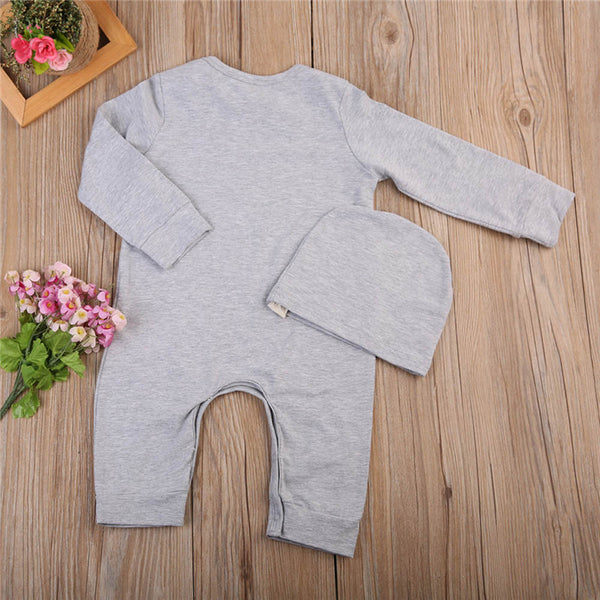 "2pc "" I love you this much "" Sleep-Suit and Hat Set"