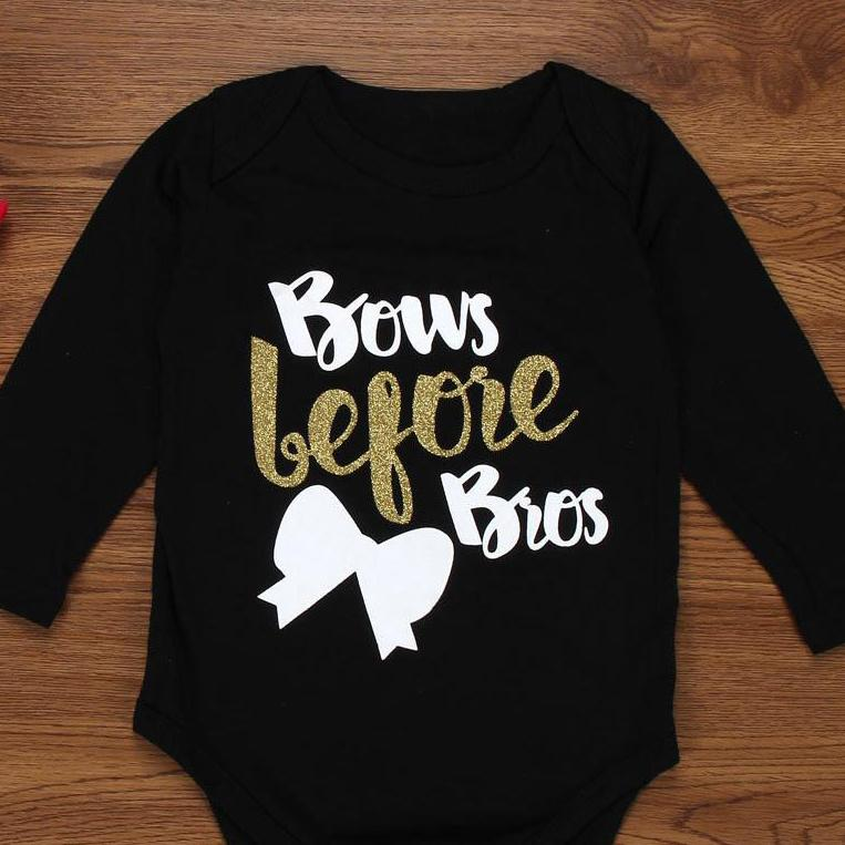 """Bows before Bros"" Baby Grow"