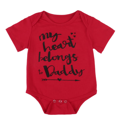 """My heart belongs to Daddy"" Baby Grow"