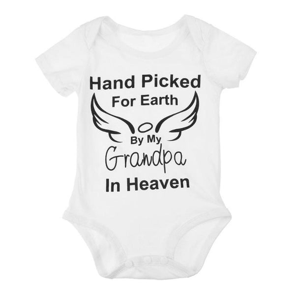 """Hand Picked for Earth.."" Baby Grow"