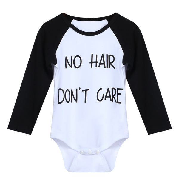 """No Hair Don't care"" Baby Grow"