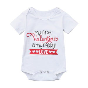 My First Valentines is my Daddy Babygrow