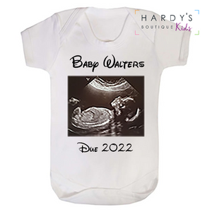 Scan Baby Announcement Babygrow
