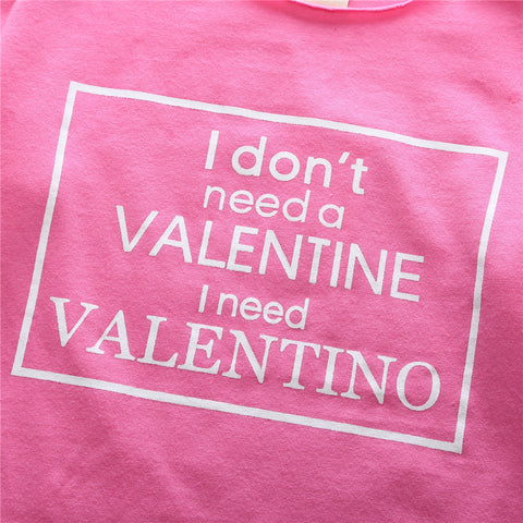 I don't need a Valentine...  Romper suit