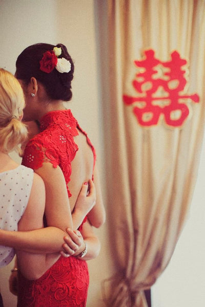 East Meets Dress Chinese Wedding Dress Hair Accessory