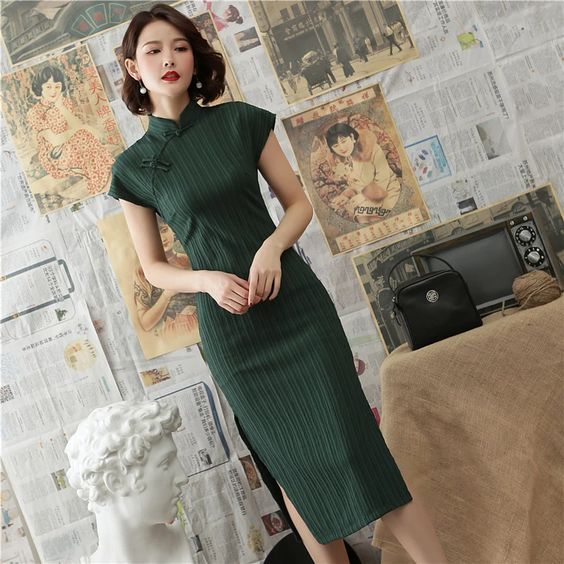 Qipao Dress Fabric Type Cotton