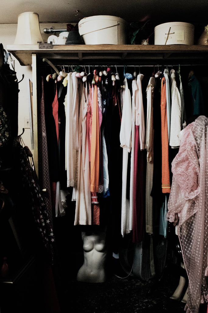 Closet with a lot of clothes
