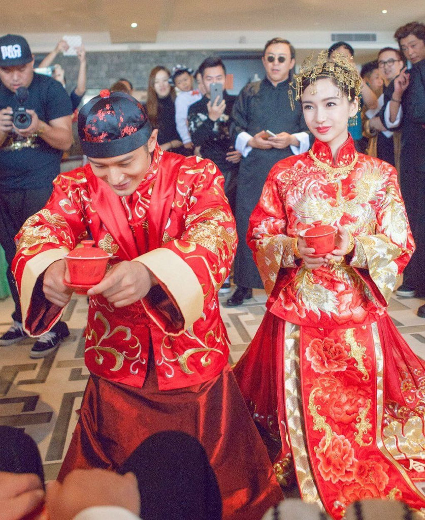 Angelababy wedding qun kwa