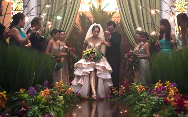 Araminta Walks on Water for Her Grand Wedding Entrance in Crazy Rich Asians