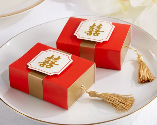 Chinese double happiness gift boxes