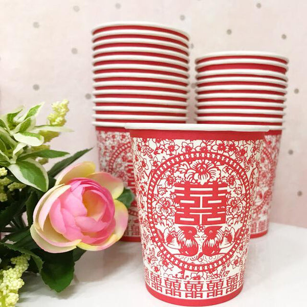 Double happiness paper cups