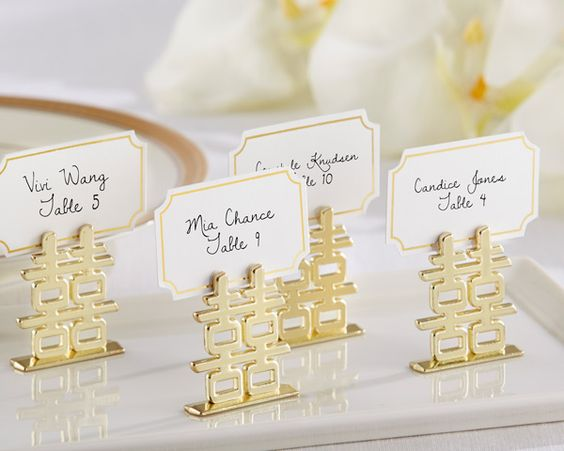 Chinese double happiness place card holders