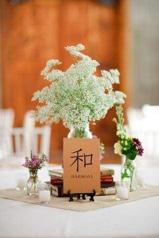 30 Ideas for a Modern Chinese Wedding, Chinese Characters Table Decor