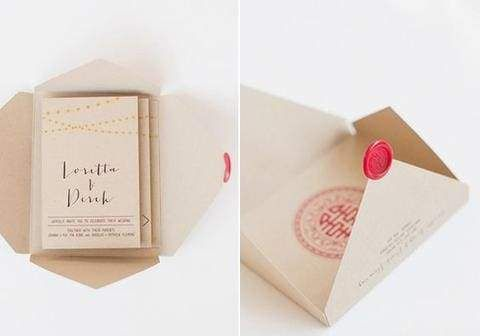 30 Ideas for a Modern Chinese Wedding, Chinese Invitation Stamp