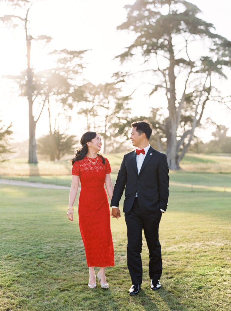 Asian American Red Wedding Qipao