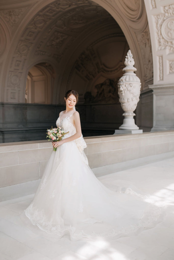 East Meets Dress Asian American Wedding Photo Shoot By Vivi Lin
