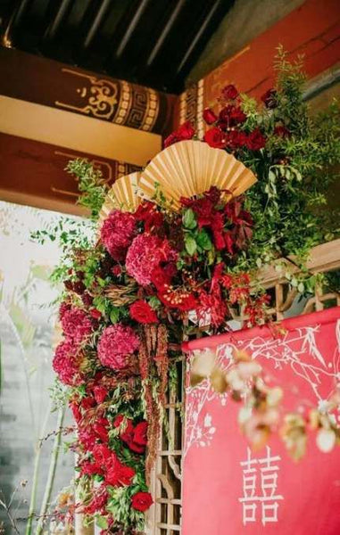 Modern Chinese Wedding Banquet Decorations, Chinese Floral Decor
