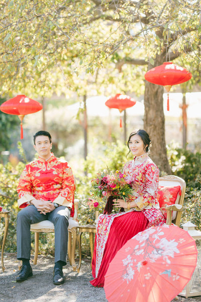 Chinese Wedding Decorations, Red Lanterns at Tea Ceremony