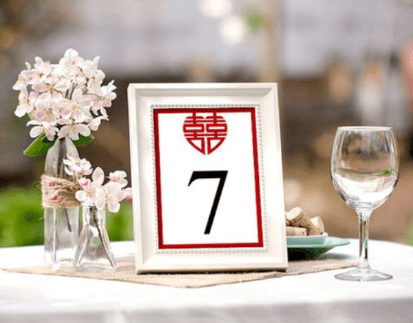 Modern Chinese Wedding Banquet Decorations, Table Cards