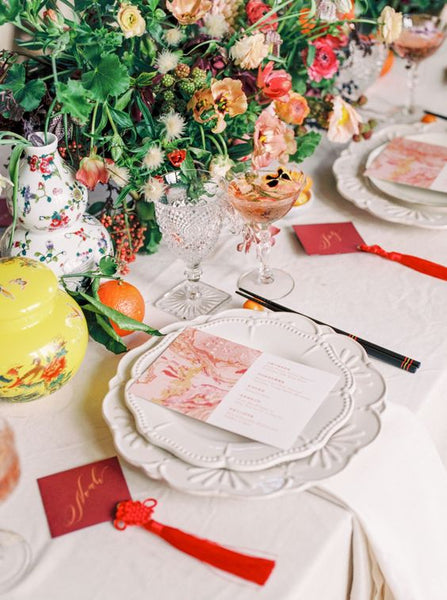Chinese Wedding Banquet Decorations, Oranges as Traditional Chinese Element in Table Decor