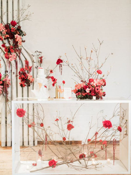 Modern Chinese Wedding Banquet Decorations, Floral Display