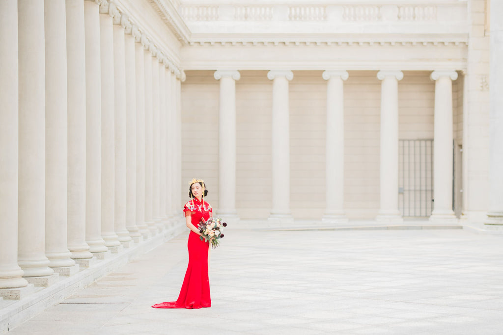 East-Meets-Dress-Chinese-Wedding-Engagement-Shoot-Legion-Of-Honor