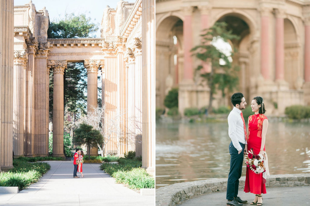 East-Meets-Dress-Chinese-Wedding-Engagement-Shoot-Palace-Of-Fine-Arts