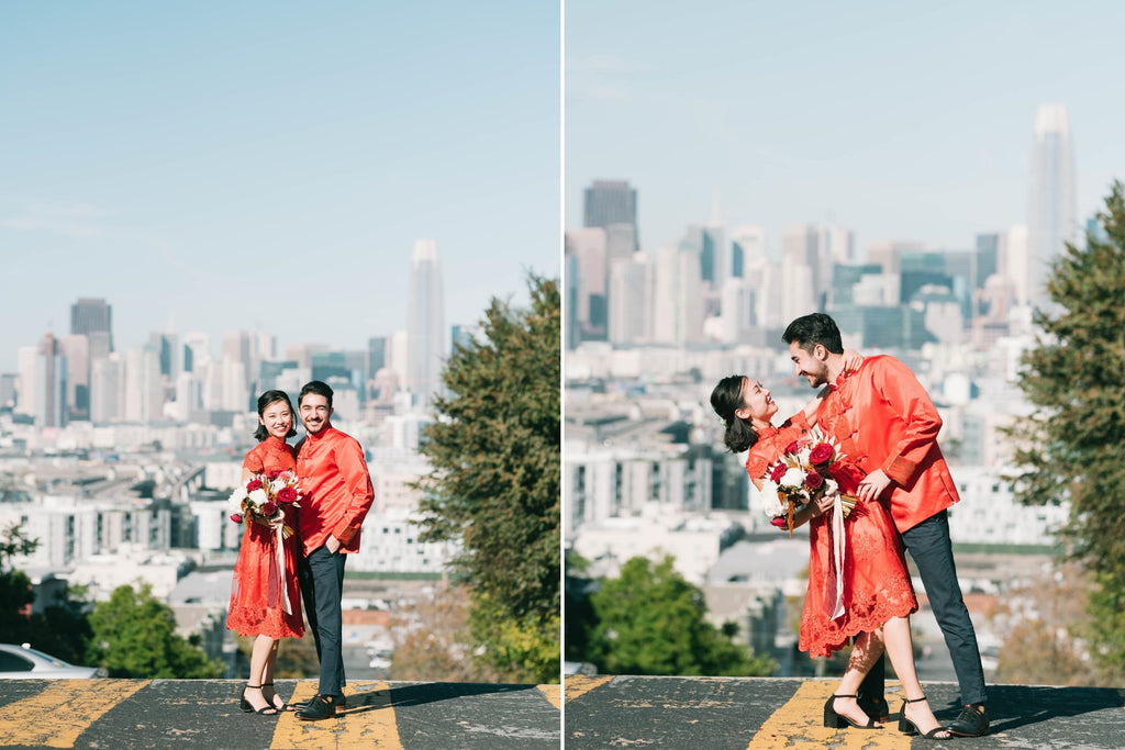 East-Meets-Dress-Chinese-Wedding-Engagement-Shoot-Potrero-hill