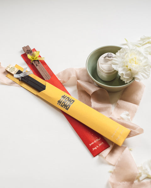 5 Must-Have Chinese Wedding Symbols For Your Wedding, Chinese Wedding Guest Favors, Custom Chopsticks, By East Meets Dress