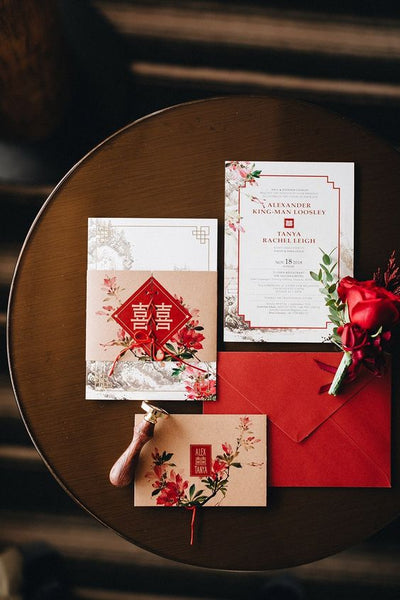 5 Must-Have Chinese Wedding Symbols For Your Wedding, Double Happiness Invitations, By East Meets Dress