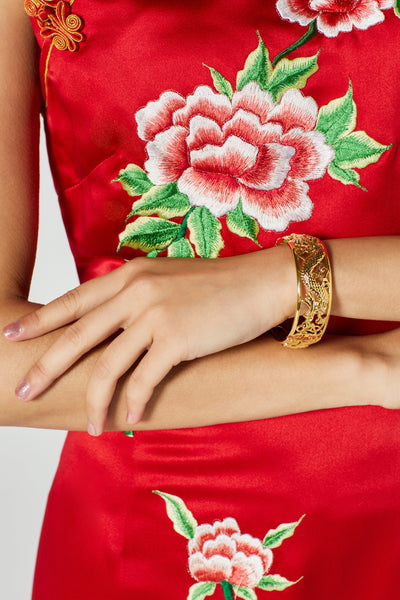 Chinese Wedding Dress Bangle, Chinese Wedding Accessories, Chinese Gold Bangles