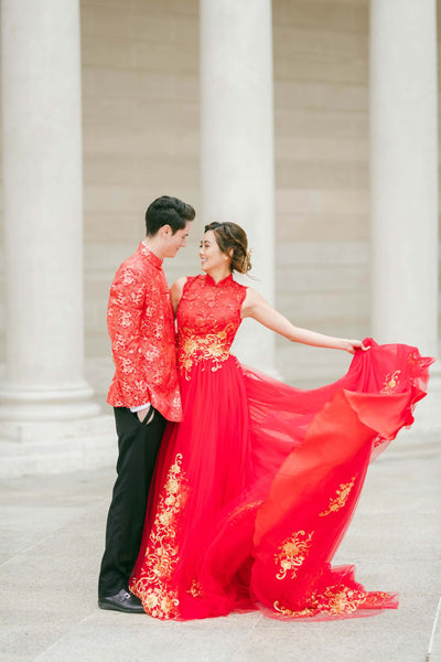 Gold-Details-Wedding-Cheongsam-Qipao-Dress