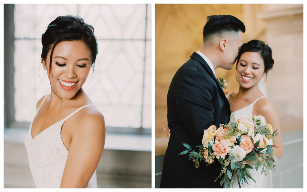 East Meets Dress Asian American Makeup Tips for Brides with Mari Marry