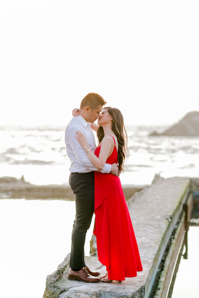 sutro baths engagement shoot