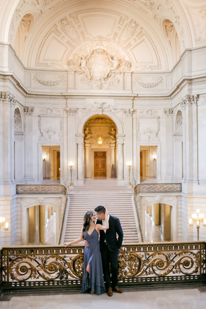 Best Bay Area Engagement Photo Shoot Locations San Francisco City Hall