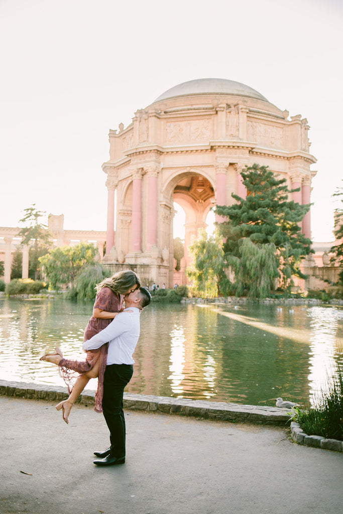 Palace of Fine Arts Engagement Photo Shoot Bay Area