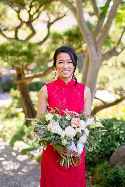 5 Must-Have Chinese Wedding Symbols For Your Wedding, Red Chinese Wedding Dress, East Meets Dress