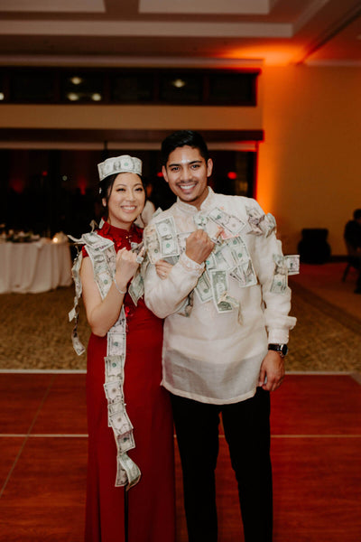 East Meets Dress, Multicultural Wedding, Chinese and Filipino roots, Chinese-American real bride