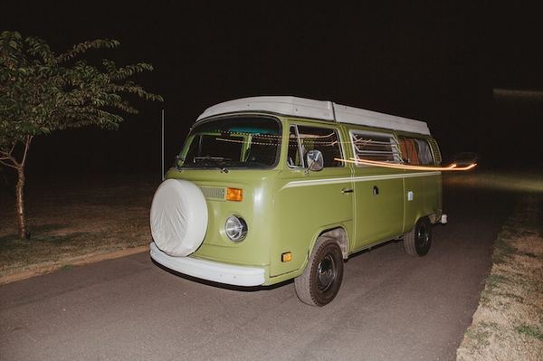 East Meets Dress Nature Inspired Outdoors Taiwanese American Wedding with VW Bus