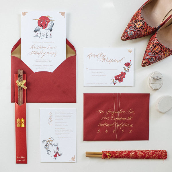 Chinese-Wedding-Modern-Ideas-Invitations-East-Meets-Dress