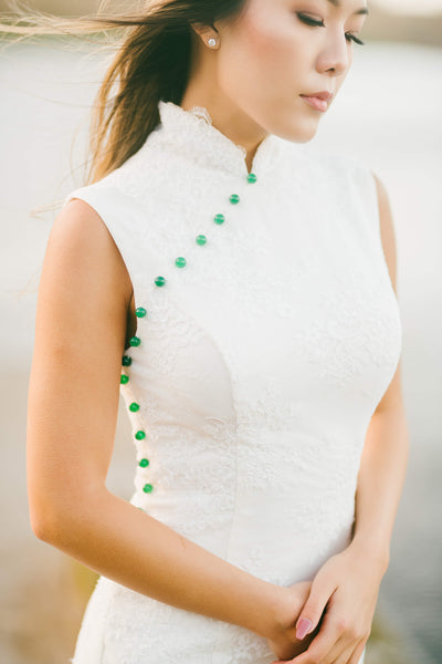Modern Cheongsam Qipao Dress For Your Chinese Wedding Inspiration, Chinese Wedding Dress Jade Dress