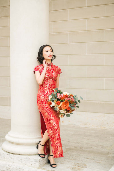 Modern Cheongsam Qipao Dress For Your Chinese Wedding Inspiration, Melinda Dress