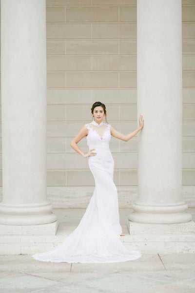 Modern Cheongsam Qipao Dress For Your Chinese Wedding Inspiration, White Chinese Wedding Dress