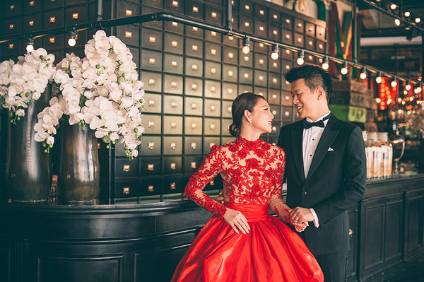 Modern Cheongsam Qipao Dress For Your Chinese Wedding Inspiration, Red A-Line Dress