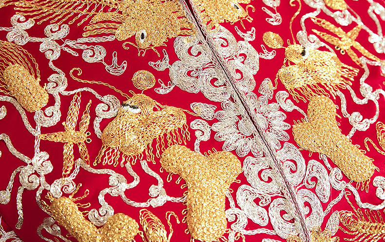 Beautiful Qun Kwa Hand Embroidery
