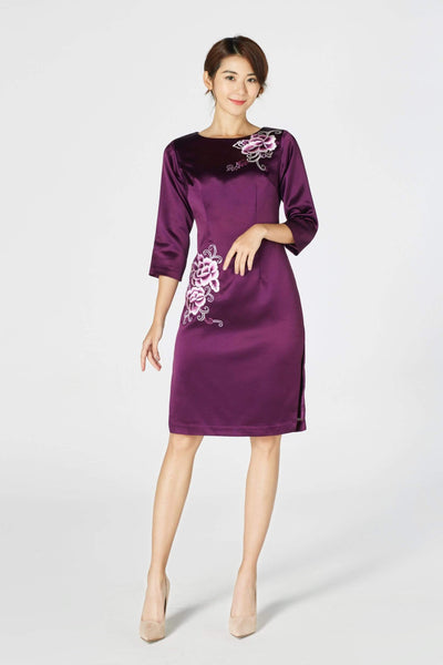 Lauren-Dress-Purple-Embroidered-Silk-Dress-Cheongsam-Qipao-East-Meets-Dress