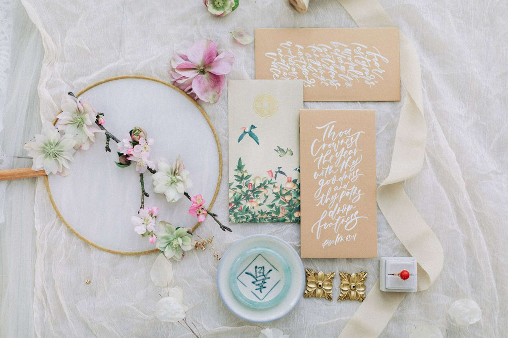 Chinese Wedding Tradition Ideas, Modern White Cheongsam and Tea Ceremony Invitations
