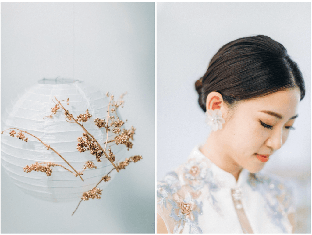 Chinese Wedding Tradition Ideas, Modern White Cheongsam with Jade Jewelry